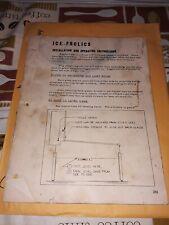 Bally Ice Frolics Pinball Original Operating & Installation Instructions #104