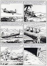 MELLIES : BIGGLES EN AFRIQUE SUPERBE PLANCHE ORIGINALE ARTIMA PAGE 48