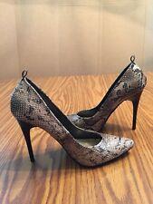 "Diba East Faux Snakeskin 4"" Stiletto High Heel  Women's Shoes 7 M Vegan ""Diana"""