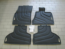 Genuine BMW F15 X5 Tailored Rubber Floor Mats Front and Rear Set 4 51472347729