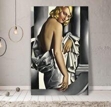 """XXL LEINWAND BILD 125x80x5 """"Tamara De Lempicka"""" GEMÄLDE Art-Deco MALEREI IKEA"""