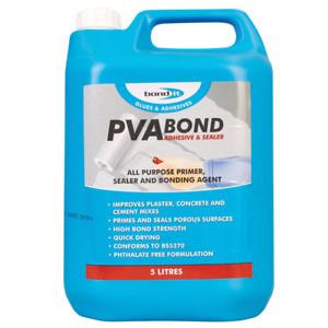 Bond It Premium Grade PVA Adhesive, Sealer, Primer & Bonding Agent 5l