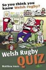 So You Think You Know Welsh Rugby? Welsh Rugby Quiz Book, Matthew Jones | Paperb