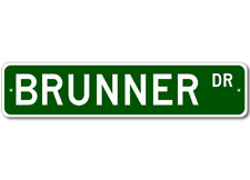BRUNNER Street Sign - Personalized Last Name Sign