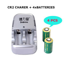 4x3V CR2 Lithium Rechargeable 800mAh Battery For Flashlight/Microphone/Camera UK