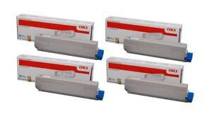4 x Original Toner OKI C3300 C3300N C3450N C3600 C3600N / 43459329 -43459332
