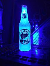 NHL St. Louis Blues Hockey 12 oz Beer Bottle Light LED Neon Bar Pub Man Cave