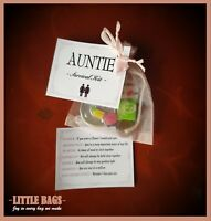 AUNTIE AUNTIE'S SURVIVAL KIT BIRTHDAY GIFT PRESENT AUNTIE THANK YOU KEEPSAKE