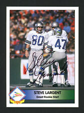 STEVE LARGENT AUTOGRAPHED AUTO SIGNED 1992 PACIFIC CARD SEATTLE SEAHAWKS 177112