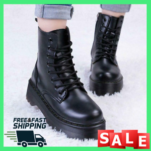 Doc Martens Women Leather Heeled Boots Shoes Smooth Us Size Doc Eye New 2021