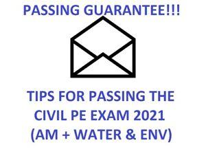 CIVIL PE EXAM STUDY MATERIALS (AM + Water Resources & Environmental Depth) TIPS
