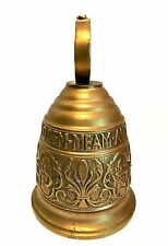 Vintage Solid Brass Bell Qui Me Tangit Vocem Meam Audit Heavy Metal 9 inches