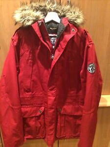 Tog 24 Mens Large Red Outdoor Winter Jacket Waterproof Fleece Lined Size L