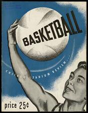 1947-48 BAA BASKETBALL FT. WAYNE-TOLEDO ST. LOUIS-CHICAGO BASKETBALL PROGRAM