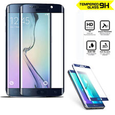 Genuine 3D Tempered Glass Screen Protector for Samsung Galaxy S6 Edge Blue