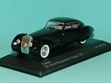 WhiteBox 1/43 1937 Delage D8 120S Pourtout Aero Coupe Black MiB