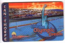 OCEANIE  TELECARTE / PHONECARD .. AUSTRALIE TELSTRA IAN THORPE 3D OLYMPIQUE 1999