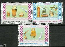 Equatorial GUINEA ECUATORIAL Edifil #126/128 ** MNH Musica / Music
