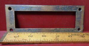 VINTAGE CAST BRONZE/BRASS INTERIOR TRIM PLATE FOR A  DOOR MAIL SLOT