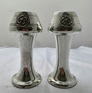 nice pair liberty & co tudric art nouveau pewter vases by Archibald knox 0340