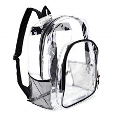 Heavy Duty Transparent Clear Backpack See Through Backpacks for Travel,College