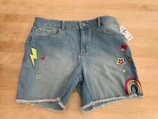 Gap Girls Denim Shorts with embroidered details Age 13 Size XL New With Tags