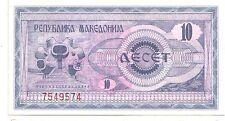 Macedonia  10 denari  1992   FDS  UNC    pick 1    lotto 3321