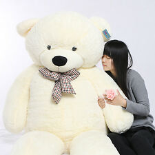 Joyfay 91'' 230cm White Giant Teddy Bear Stuffed Plush Toy Christmas Gift