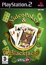 Video Poker & Blackjack PS2 PlayStation 2 Brand New