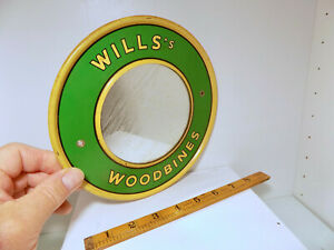 Will's Woodbines Cigarette Tobacco Tin Advertising Mirror Sign c1920s