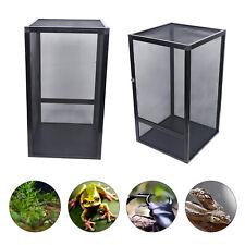 Black Reptile Enclosure Terrarium Climbing Pet Breeding Cage Mesh Screen Cage