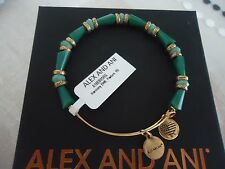 Alex and Ani PASTURE HARMONY Russian Gold  Finish Bangle New W/Tag Card & Box