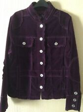 NEW purple/wine  (suede Look )COTTON Jacket By CINO Size 20