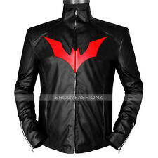Batman Beyond Terry McGinnis Black Faux Leather Jacket Costume
