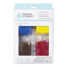 MARTHA STEWART CRAFTS CRAFTERS CLAY RED BLUE YELLLOW & BROWN SET - 4 X 14.1g