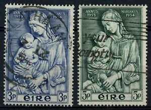 Ireland 1954 SG#158-159 Marian Year Used Set #E35012