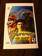 SHENMUE 11x17 Box Art Poster - Sega Dreamcast - No Game -