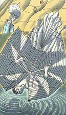 """Litografía Edward Bawden montado Vintage, 12 X 10"""", Rasselas Icarus 1975 EBR3"""