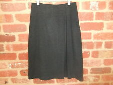 SUSSAN LADIES SIZE 10 CHARCOAL GREY SKIRT WINTER POLY VISCOSE  ELASTANE PLEAT