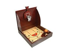 Wooden Sports Basketball Table Top Classic Game New