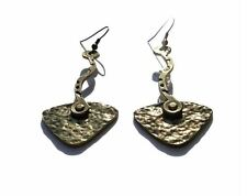 NEW Womens Hammered Brass Drop Dangle Fashion Earrings