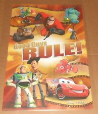The Best of Pixar Poster 34x22 Monsters Inc Toy Story Nemo Incredibles RARE
