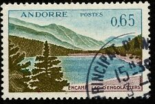 1961 French Andorra Sc #151 Lac d'Engolasters definitive CDS Used; SCV $18.50