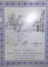1969 Catalogue de Vente Drouot BEAUX ARTS LIVRES MODERNES ILLUSTRES