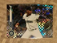2020 Topps Chrome Xfractor Refractor Justin Dunn Rookie RC #136 Seattle Mariners