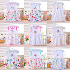 New Baby Infant Newborn Toddler Kids Soft Princess Cartoon Summer Dress Clothes