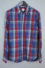Hombre Levi's Strauss & Co Camisa Algodón de Cuadros Informal TALLA L MAA676