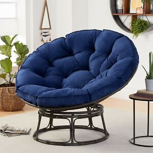 Papasan Chair with Fabric Cushion (Navy)