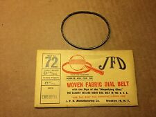 NOS Antique JFD Fabric Radio Dial Belt Number 72 GUARANTEED for Emerson
