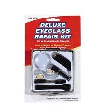 Deluxe Eyeglass Repair Kit Fix Broken Eye Glasses Sun Nose Pad Screwdriver Cord
